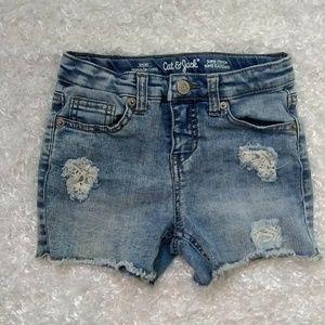 Cat & Jack Distressed Lace Jean shorts